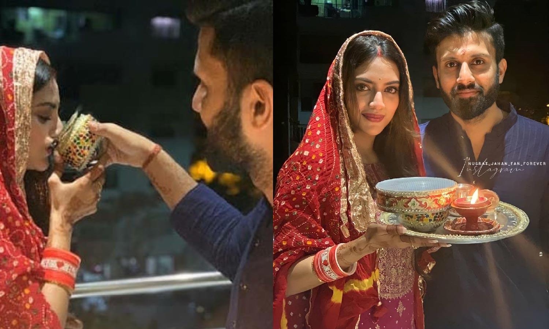 Photo of বিয়ের পর করওয়া চৌথ পালন করছেন নুসরত জাহান, সোশ্যাল মিডিয়াতে ভাইরাল ছবি