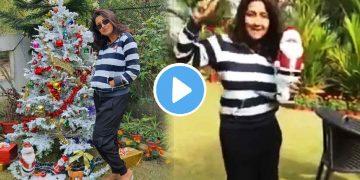 Rachana Banerjee Dancing in christmas day viral video রচনা ব্যানার্জী