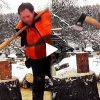 Viral Video Man without hands Cuts Wood with Axe