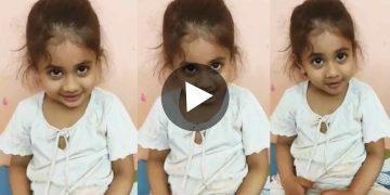 Viral Video Cute little girl conversation