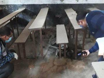 Skeleton found inside college classroom in varanasi