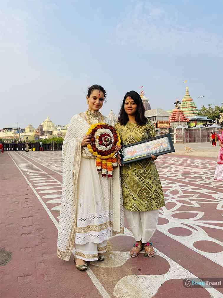 Kangana Ranaut in Puri Jagannath Temple কঙ্গনা রানাউত