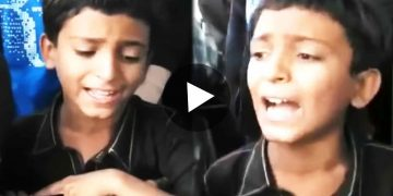 Viral Video of little boy singing song and begging
