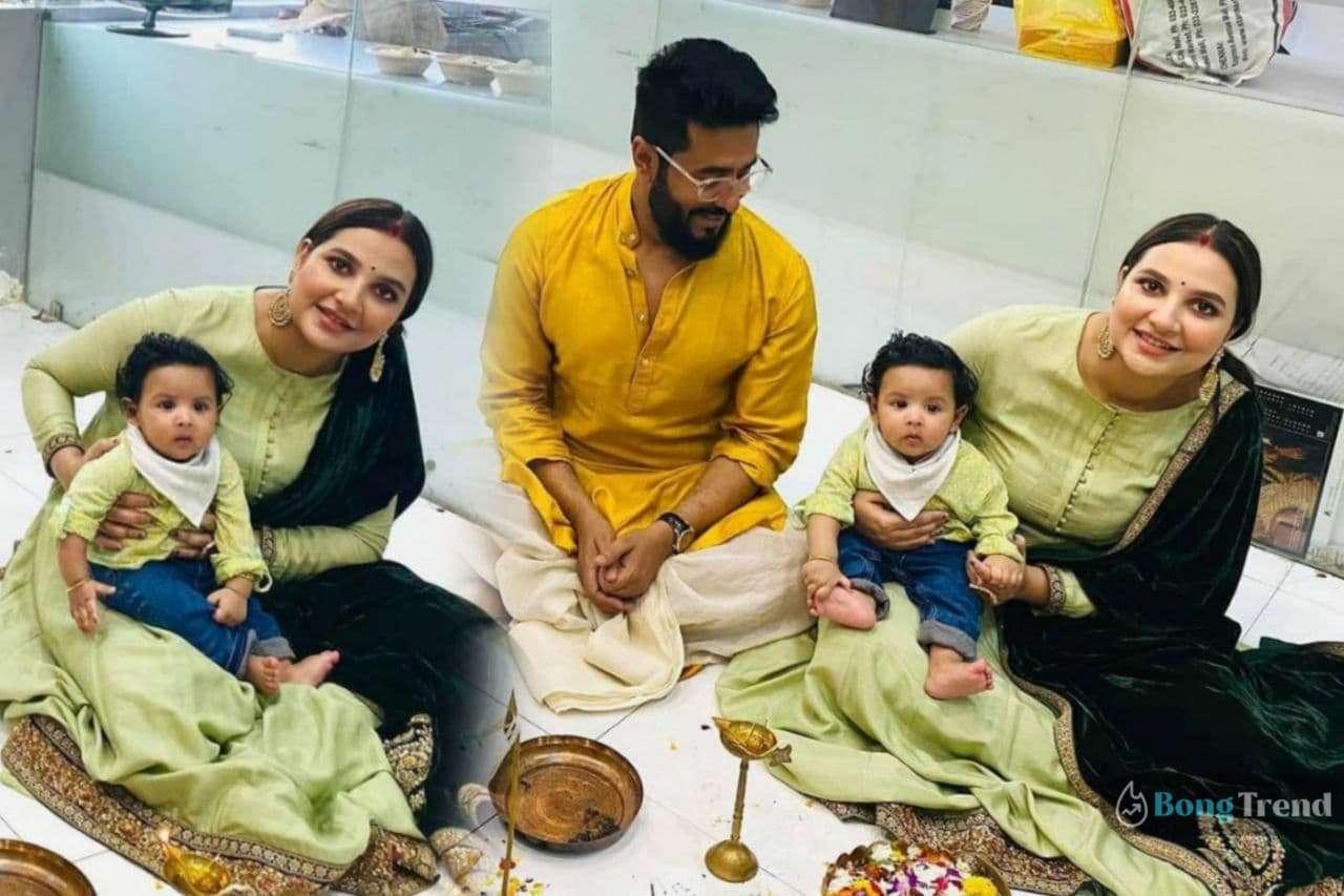 Photo of সরস্বতী পুজোয় শুভশ্রীর পোশাকের সঙ্গে ম্যাচিং করে সাজল ছোট্ট যুবান! তুমুল ভাইরাল ছবি