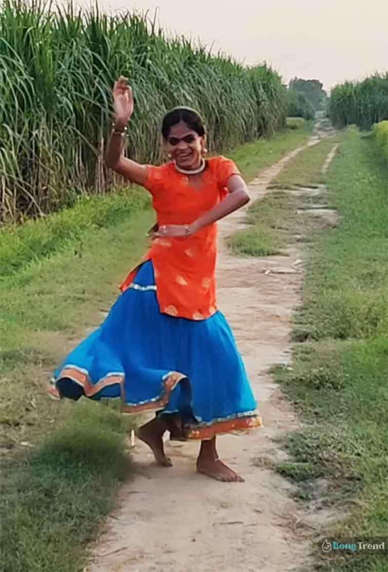 ভাইরাল ভিডিও Viral Video Village girl Dancing Shared by Madhuri Dixit মাধুরী দীক্ষিত