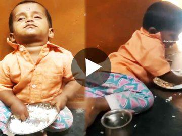 Viral Video Sleepy Baby Eating