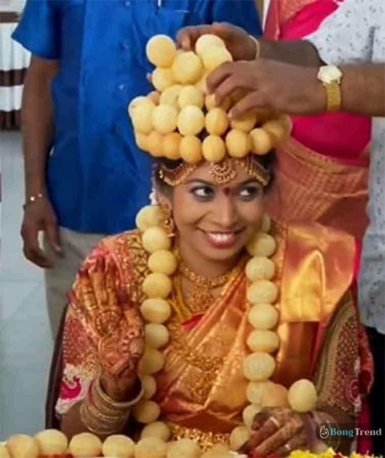 ফুচকা দিয়ে তৈরী বিয়ের কনের মুকুট Bridal Crown Made of Fuchka