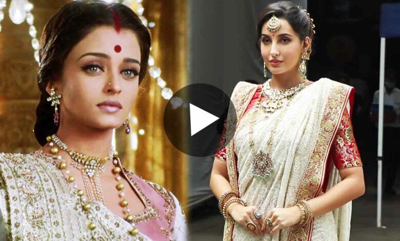 Nora Fatehi in Devdas Paro Look Viral Video