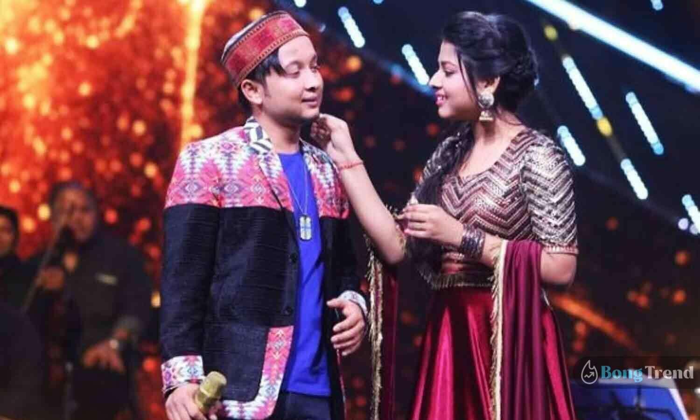 ইন্ডিয়ান আইডল Indian Idol 12 Pawandeep Arunita Love Story