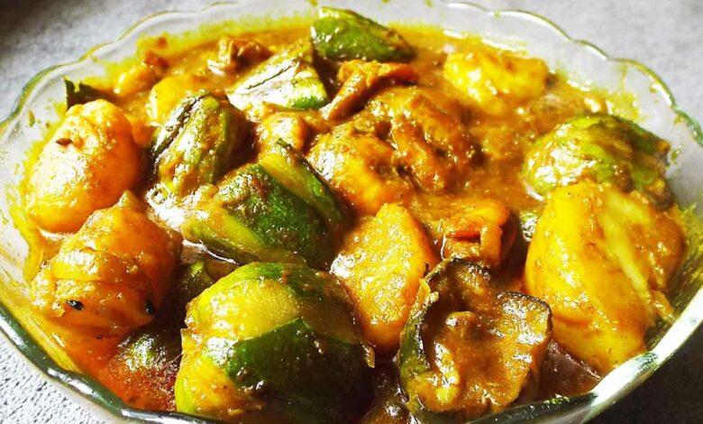 পটল দোপেঁয়াজা Potol Dopiiaza Recipe