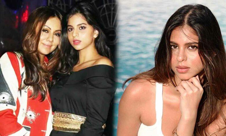 Shahrukh Khan daughter suhana khan pool side photoshoot by mother gauri khan