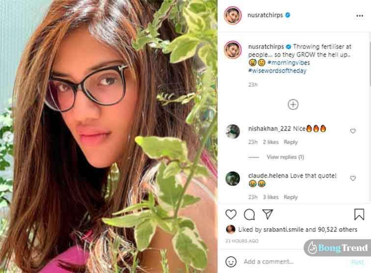 Nusrat Jahan Instagram Post