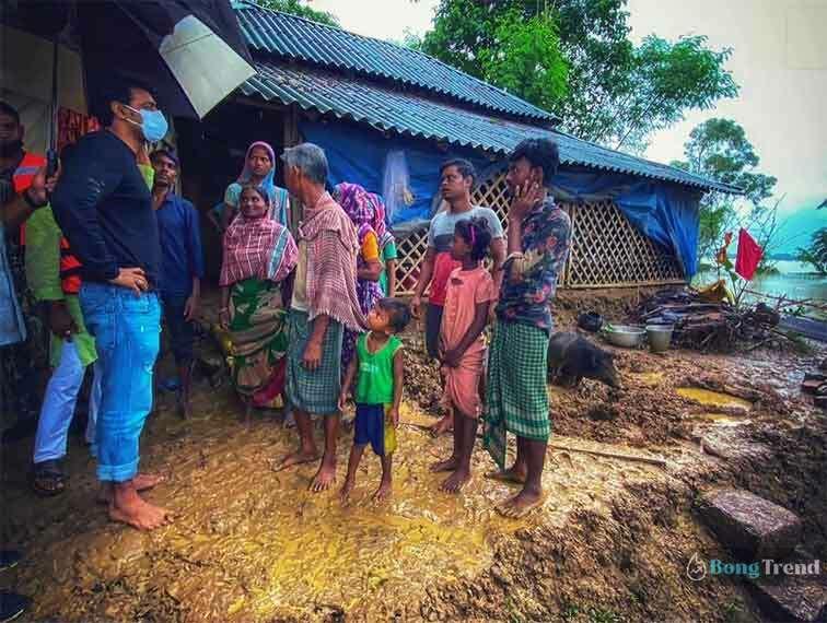 Dev helping Ghatal Peoples দেব