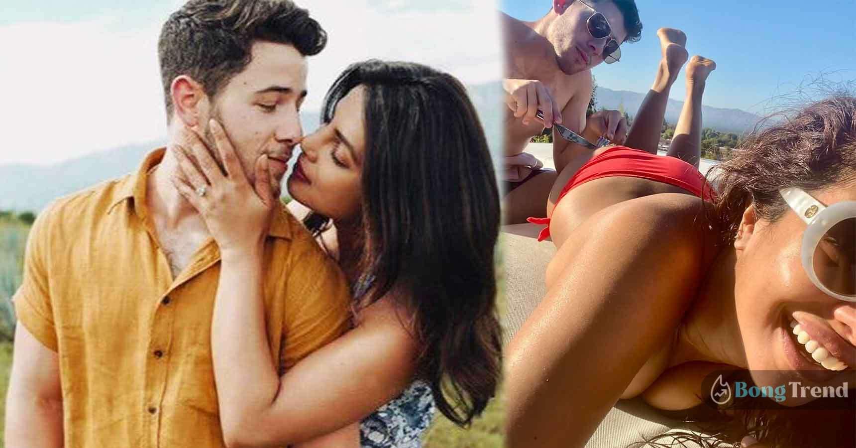 Priyanka Chopra in bikini with Nick Jonas