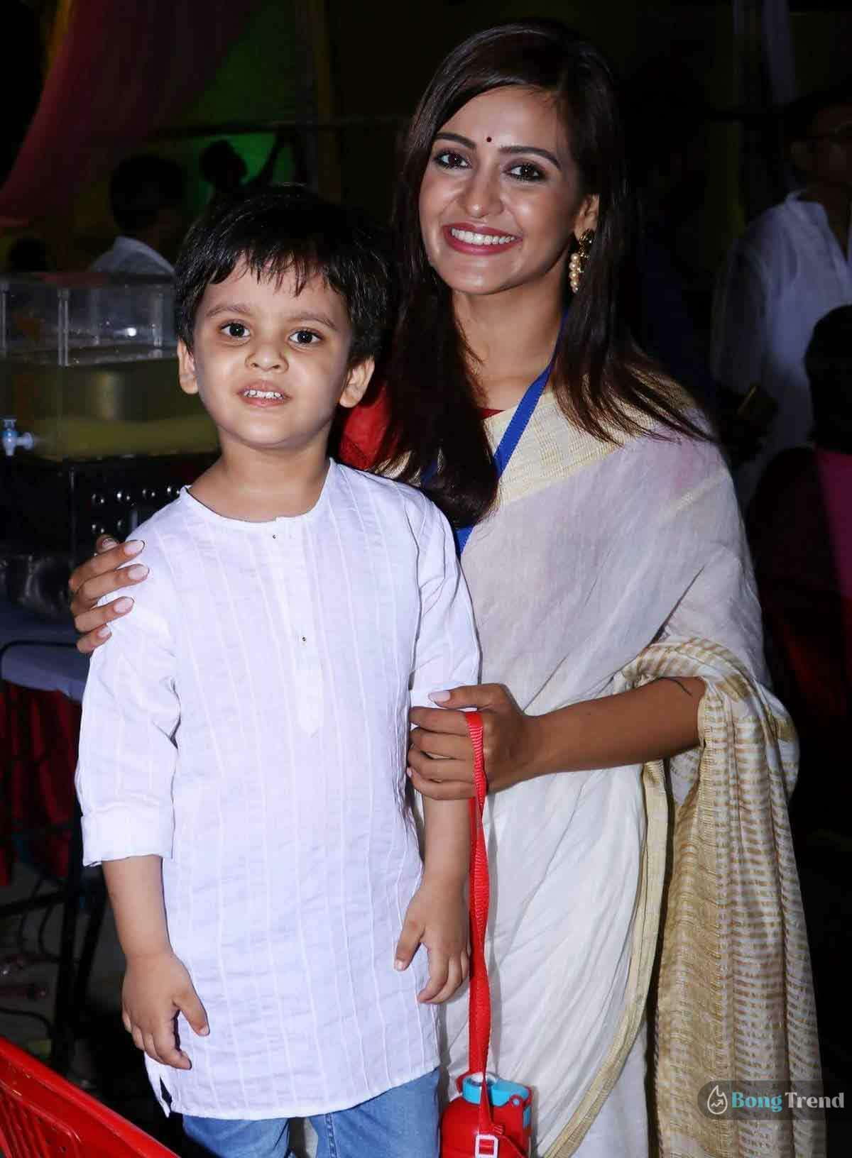 Priyanka Sarkar with son sohoj