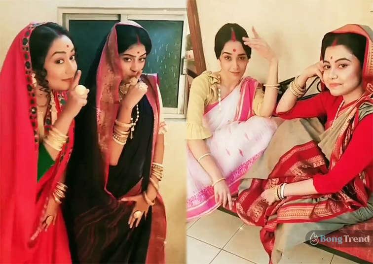 Promita Chakraborty Rani Rashmoni Shooting Set Reel Video রানী রাসমণি সিরিয়ালের শুটিং ফ্লোরে রিল ভিডিও