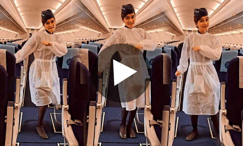 Air Hostess Aayat Afreen Dancing on Manike Mage Hithe Viral on Internet
