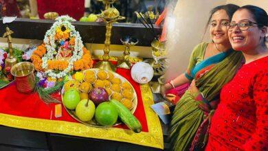 Photo of শুটিংয়ের ফাঁকেই মিঠাইরানীর গণেশ পুজো, মেকআপ রুম থেকেই 'গণশু'-র ছবি শেয়ার করলেন সৌমিতৃষা