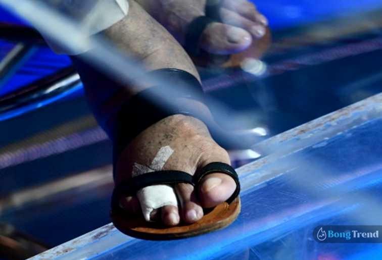 Amitabh Bacchan KBC fracture in Toe