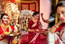 Photo of শেষ দুর্গাপুজো, শুরু বছরভরের প্রতীক্ষা, রইল বিজয়া দশমীতে ১০ প্রিয় অভিনেত্রীদের সাজের ছবি