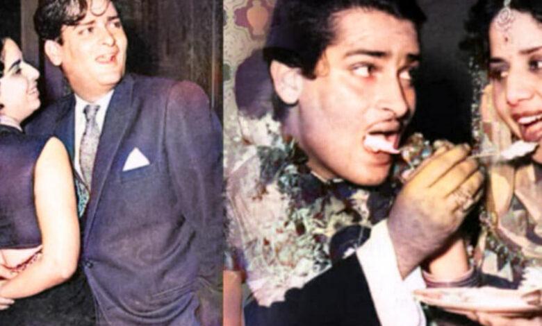 Photo of লিপস্টিক দিয়েই রাঙিয়ে দিয়েছিলেন সিঁথি! শাম্মি কাপুরের সাথে গীতা বালির বিয়ে যেন আস্ত সিনেমা