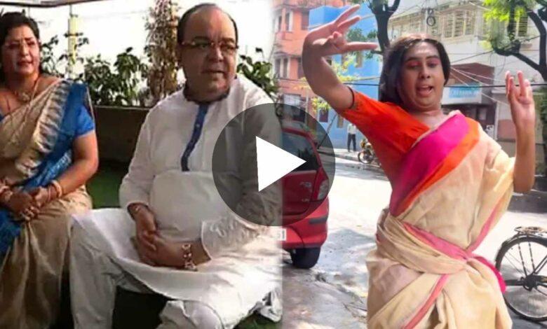 Sandi Saha Dancing on Momo Chitte after Sobhan Baishakhi Dance Viral on Internet
